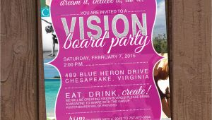 Vision Board Party Invitation Vision Board Party Invitation
