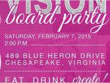 Vision Board Party Invitation Wording Vision Board Party Invitation by Auroragraphicstudio On