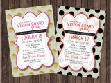 Vision Board Party Invitation Wording Vision Board Party Polka Dot Invitation