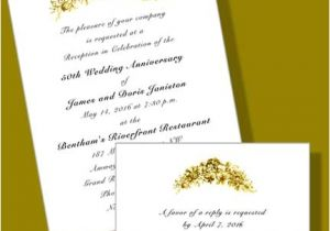 Vistaprint 50th Wedding Anniversary Invitations 50th Wedding Anniversary Invitations with Rsvp Cards