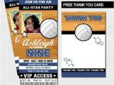 Volleyball Party Invitations Items Similar to Volleyball Ticket Invitations Birthday