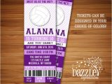 Volleyball Party Invitations Printable Volleyball Ticket Birthday Invitation Sports