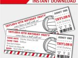 Volleyball Party Invitations Volleyball Invitation Volleyball Birthday Volleyball Party