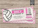 Volleyball Party Invitations Volleyball Invitations Volleyball Birthday Invitations