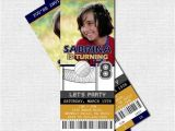 Volleyball Party Invitations Volleyball Ticket Invitations Birthday Party Print Your