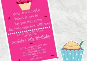 Walgreens Print Birthday Invites Cute as A Cupcake Birthday Invitation 4×6 Walgreens Picture
