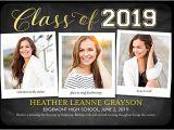 Wallet Size Graduation Invitations Notable Achievement 5×7 Graduation Announcements Cards