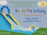 Water Slide Birthday Party Invitations Collection Water Party Invitations Waterslide Birthday