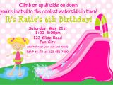 Water Slide Birthday Party Invitations Water Party Invitations – Gangcraft