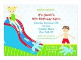 Water Slide Birthday Party Invitations Water Slide Waterslide Birthday Invitations