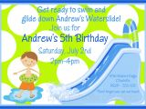 Water Slide Birthday Party Invitations Waterslide Birthday Invitation Waterslide Birthday Party