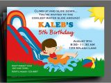 Water Slide Party Invitations Printable Boys Water Slide Invitation Printable or Printed with Free