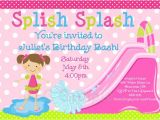 Water Slide Party Invitations Printable Items Similar to Pool Party Invitation Water Slide