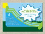 Water Slide Party Invitations Printable Water Slide Birthday Invitation Printable Boy by