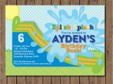 Water Slide Party Invitations Printable Water Slide Birthday Invitation Printable Boy or Girl