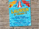 Water Slide Party Invitations Printable Water Slide Birthday Invitation Printable Diy