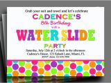 Water Slide Party Invitations Printable Water Slide Invitation Printable or Printed with Free Shipping