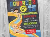 Water Slide Party Invitations Printable Water Slide Party Invitation Printable Birthday Invite for