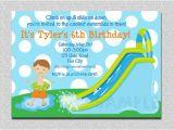 Water Slide Party Invitations Waterslide Birthday Invitations Water Slide Birthday Party