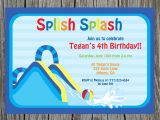 Water Slide Party Invitations Waterslide Party Waterslide Invite Water Fun Invitation