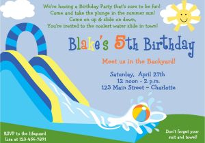 Water Slide Party Invitations Wording Inflatable Water Slide Clip Art 49