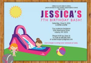 Water Slide Party Invitations Wording Water Party Invitations Gangcraft Net