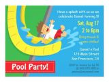 Water Slide Party Invitations Wording Water Slide Birthday Party Invitations Eysachsephoto Com