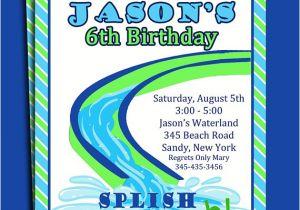 Water Slide Party Invitations Wording Water Slide Pool Party Invitation Printable or Printed with