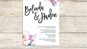 Watercolour Wedding Invitation Template 27 Watercolor Wedding Invitations Free Premium Templates
