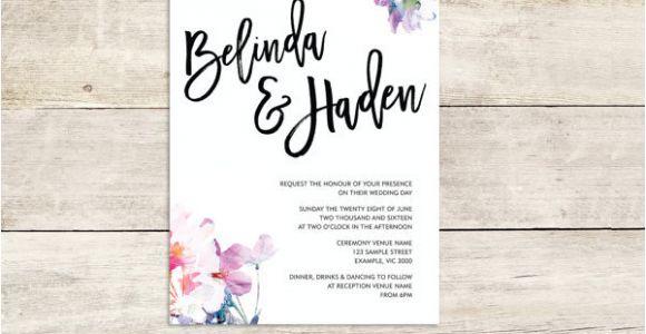 Watercolour Wedding Invitation Template 27 Watercolor Wedding Invitations Free Premium Templates