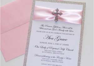 Wedding and Baptism Invitation Baptism Invitation Christening Invitation Glitter