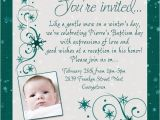 Wedding and Baptism Invitation Text Chic Winter Baptism Invitation Snowflake Cross event