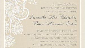 Wedding Card Invitation Wordings Christian Spiritual Wedding Invitation Wording Invitations by Dawn