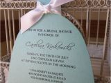 Wedding Dress Cut Out Bridal Shower Invitations the original Aqua Bridal Shower Die Cut Dress
