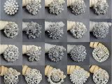 Wedding Invitation Brooches 20 Pcs Vintage Rhinestone Brooch Pearl Crystal Brooch