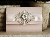 Wedding Invitation Brooches Items Similar to Sale Pocketfold Wedding Invitation with