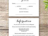 Wedding Invitation Details Card Wording Printable Wedding Invitation Rsvp Information Templates