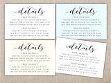 Wedding Invitation Details Card Wording Wedding Invitation Accommodation Card Zoom Invi with