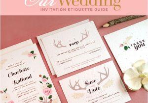 Wedding Invitation Edicate Wedding Invitations Etiquette Guide Blog Botanical