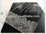 Wedding Invitation Engraved On Glass Unique Engraved Flower Engraved Invitation Card Glass for