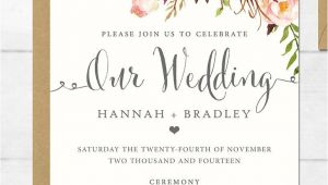 Wedding Invitation format Online 16 Printable Wedding Invitation Templates You Can Diy