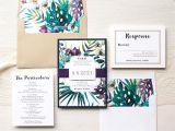 Wedding Invitation Jewels Jewel tone Tropics Destination Wedding Invitations