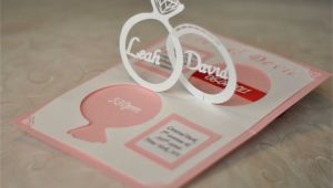 Wedding Invitation Linked Rings Pop Up Card Template Wedding Invitation Linked Rings Pop Up Card Template