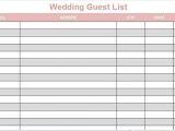 Wedding Invitation List Template 35 Beautiful Wedding Guest List Itinerary Templates