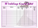 Wedding Invitation List Template 37 Free Beautiful Wedding Guest List Itinerary Templates