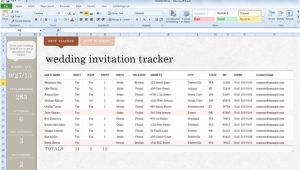 Wedding Invitation List Template Excel Wedding Invite List Template for Excel 2013
