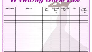 Wedding Invitation List Template Free 16 Wedding Guest List Templates In Pdf Word Excel