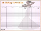 Wedding Invitation List Template Free Wedding Guest List Templates for Word and Excel