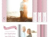 Wedding Invitation Minibook Minibook Cards Chevron Banner Wedding Invitation at