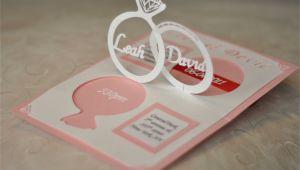Wedding Invitation Pop Up Template Wedding Invitation Linked Rings Pop Up Card Template